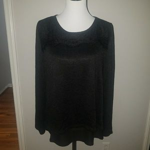 Black layered shirt with lace